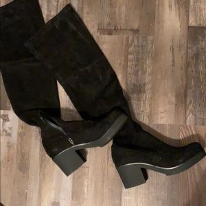 Indigo Rd Over the knee black suede boots